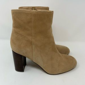 Banana Republic Suede Leather Ankle Boots, Size 8